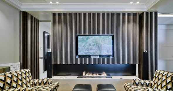 TV over a fireplace