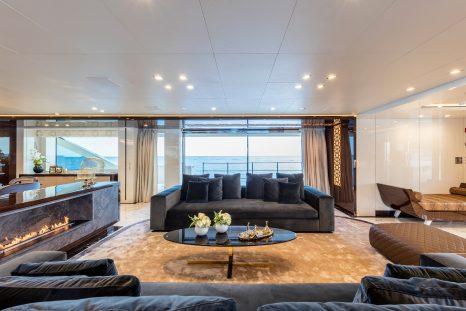 bio fireplace on yacht