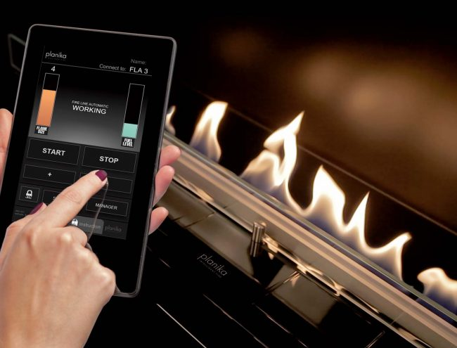 app controlled fireplace